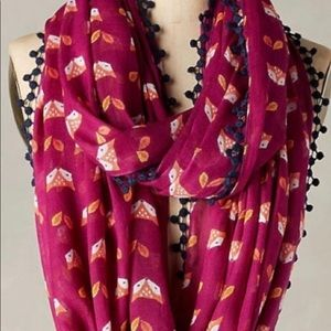 Anthropologie Infinity fox scarf